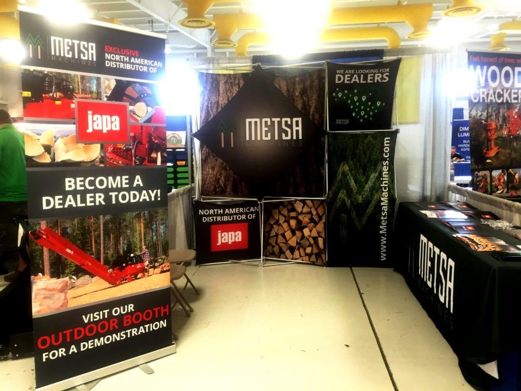 metsa trade show booth